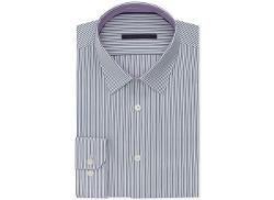 Elie Tahari  - Grey Stripe Dress Shirt