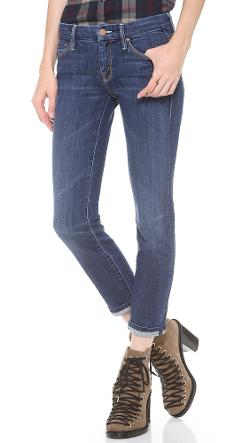 Mother  - The Cropped Looker Skinny Jeans