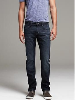 Banana Republic - Slim Distressed Indigo Jean