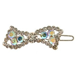 Girlprops - Curved Rhinestone Bow Barrette