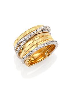 Marco Bicego - Goa Diamond, 18K Yellow & White Gold Seven-Row Ring