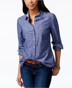 Tommy Hilfiger - Roll-Tab-Sleeve Chambray Shirt