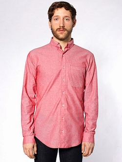 American Apparel - Chambray Long Sleeve Button-Down Shirt