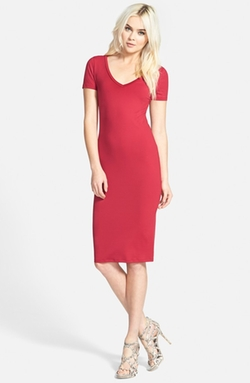 Leith  - V-Neck Body-Con Dress