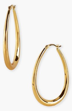 Argento Vivo - Teardrop Hoop Earrings