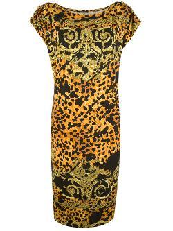 Versace Leopard  - Print Tunic Dress