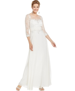 Decode - Illusion Lace Chiffon Gown
