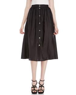 Sonia By Sonia Rykiel  - Silk Button Front Skirt