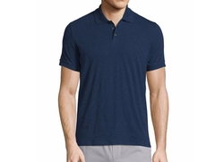 Vince  - Solid Short-Sleeve Polo Shirt