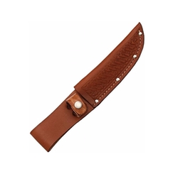 Sheath - Brown Basketweave Leather Knife Sheath