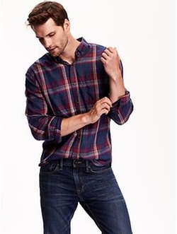 Old-Navy - Slim-Fit Plaid Shirt
