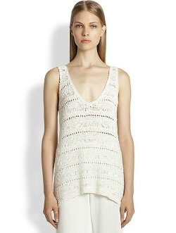Donna Karan  - Silk Ribbon Tank Top