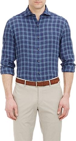 Barneys New York - Plaid Shirt