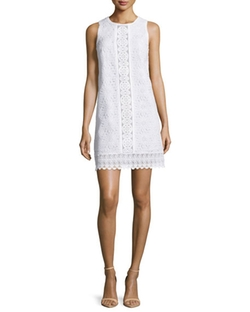 Andrew Gn  - Sleeveless Lace Shift Dress