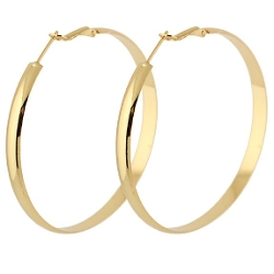 Yazilind - Omega Back Hoop Earrings
