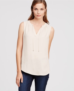 Ann Taylor - Tie Neck Shell Top