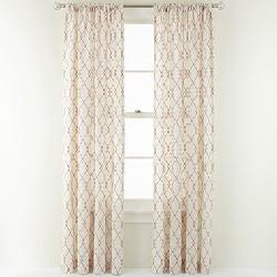 MarthaWindow™  - Diamond Revel Rod-Pocket/Back-Tab Curtain Panel