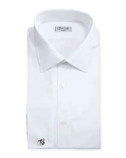 Charvet  - Solid Poplin French-Cuff Shirt