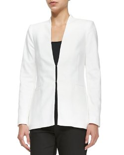 Alice + Olivia  - Long Collarless Blazer