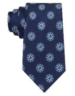 Ike Behar -  Silk Medallion Tie