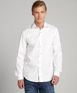 REPORT COLLECTION - Long Sleeve Tonal Paisley Button Down Shirt