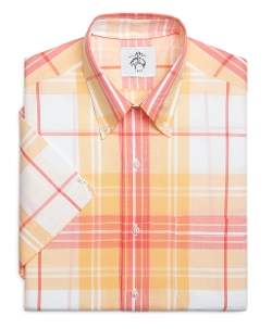 Brooks Brothers - Plaid Short-Sleeve Button Down Shirt