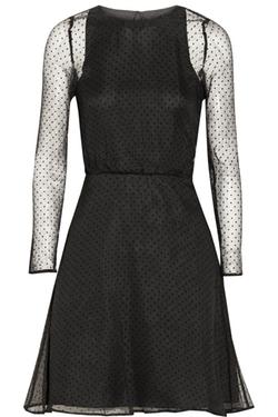 Karl Lagerfeld - Edita Swiss-Dot Mini Dress