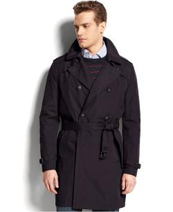 Tommy Hilfiger - Double-Breasted Belted Trench Coat