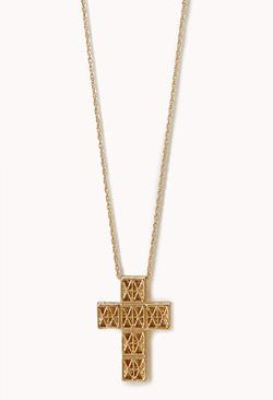 Forever21 - Street-Chic Cross Necklace