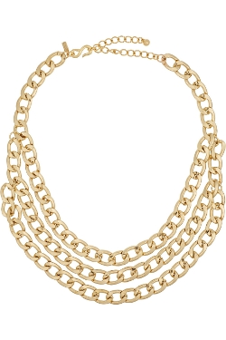 Kenneth Jay Lane - Plated Multi-Strand Chain Necklace