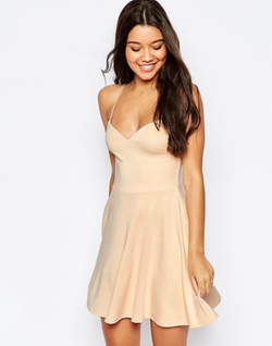Asos  - Scuba Strappy Mini Skater Dress