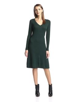 Cashmere Addiction  - Long Sleeve V-Neck Dress