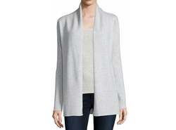 Neiman Marcus Cashmere Collection  - Cashmere Draped Cardigan