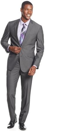 Kenneth Cole Reaction - Pinstripe Slim-Fit Suit