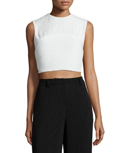 McQ Alexander McQueen - Pleated Sleeveless Crop Top