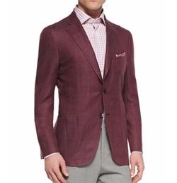 Isaia - Linen-Look Two-Button Blazer