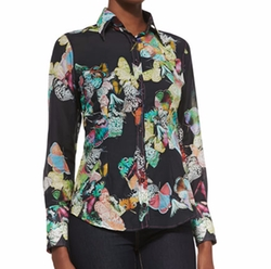 Georg Roth Los Angeles  - Butterfly-Print Cotton Blouse