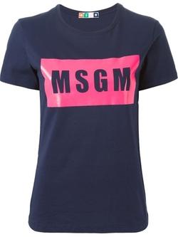 MSGM - Logo Print T-Shirt