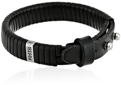 Fossil - Black Leather Bracelet