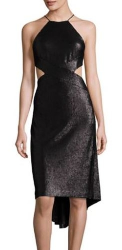 Halston Heritage -  Sequined Cutout Halter Dress