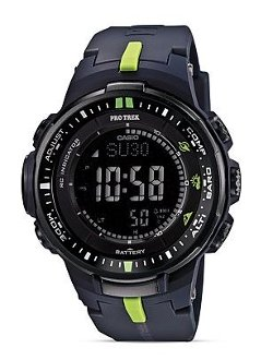 Pro Trek -  Black Slim Digital Watch