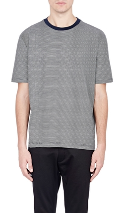 Lanvin - Micro-Striped T-Shirt