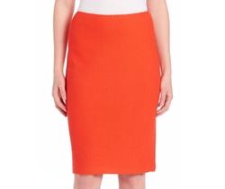 St. John  - Textured Straight Skirt