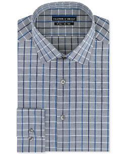 Geoffrey Beene  - Non-Iron Grey Check Dress Shirt