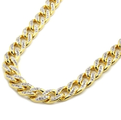L & L Nation - Diamond Miami Cuban Chain Necklace