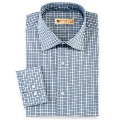 Haggar - Tattersall-Checked Easy-Care Spread-Collar Dress Shirt