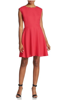 Dex  - Cutout Fit-And-Flare Dress