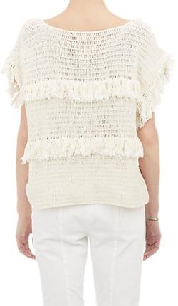 Ulla Johnson - Crochet Fringe Sweater