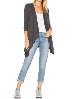 Chaser  - Drape Front Open Cardigan