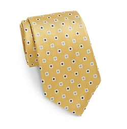 Saks Fifth Avenue - Neat Square Dot Silk Tie